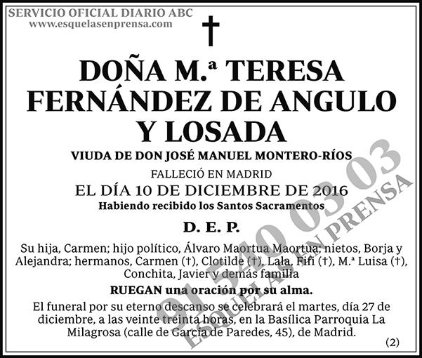 M.ª Teresa Fernández de Angulo y Losada